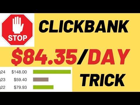 NEW Fast Clickbank Money! 👉 Make $84.25 on ClickBank (Make Money Online Tutorial)