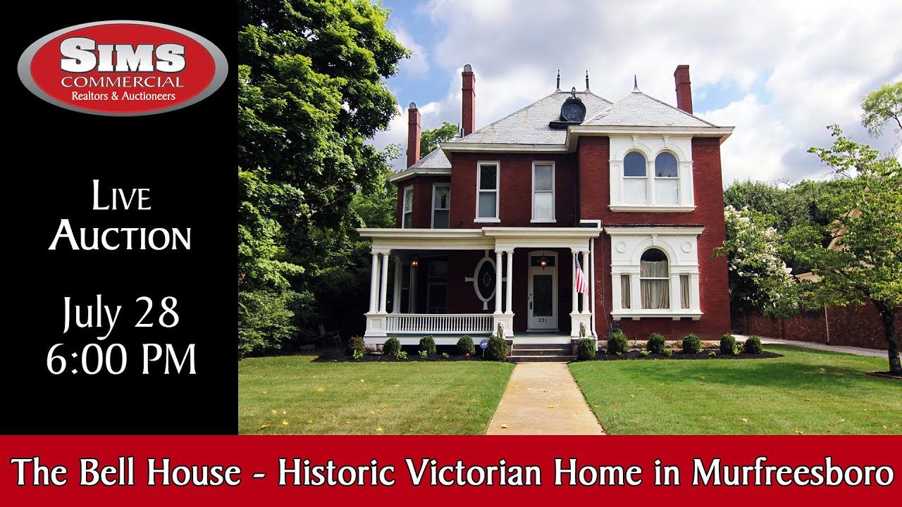 Auction   The Bell House, Historic Victorian Home In Downtown Murfreesboro