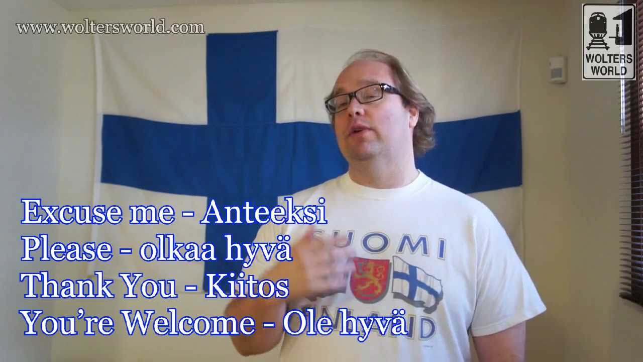 Learn Finnish Basic Phrases For Tourists Youtube