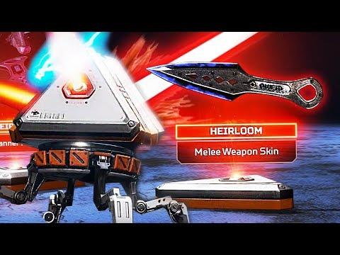 Unlocking the RAREST Item in Apex Legends!! *Heirloom Knife Skin* (Apex Legends)