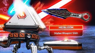 Unlocking the RAREST Item in Apex Legends!! *Heirloom Knife Skin* (Apex Legends)