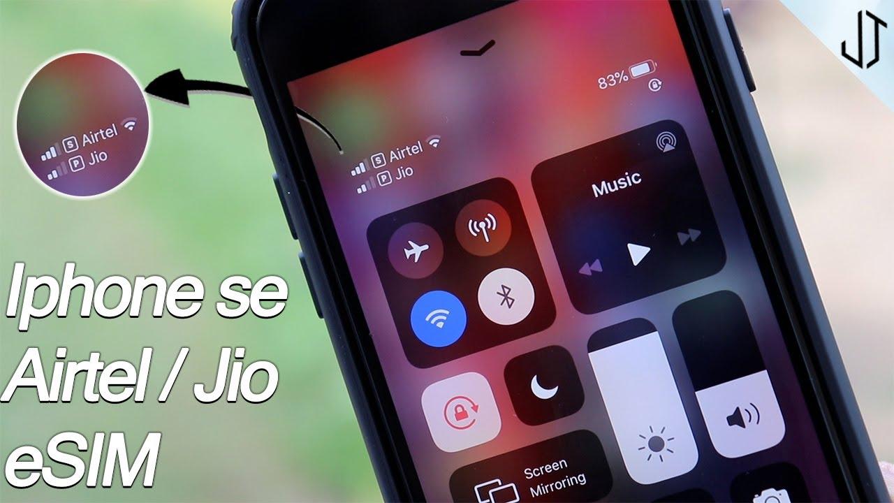 Iphone se airtel/jio esim setup procedure - YouTube