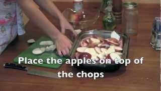 Paleo Pork Chops & Baked Apples