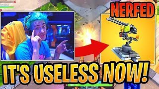 NINJA REACTS TO NERF NEW TRAP - TURRET | Fortnite Funny Moments (Fortnite Battle Royale Daily)