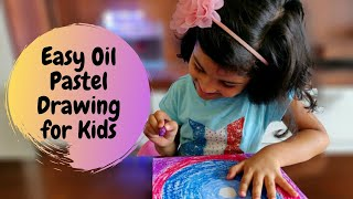 Easy Oil Pastel Drawing for Kids | Oil Pastel Art for Kids | Part 3