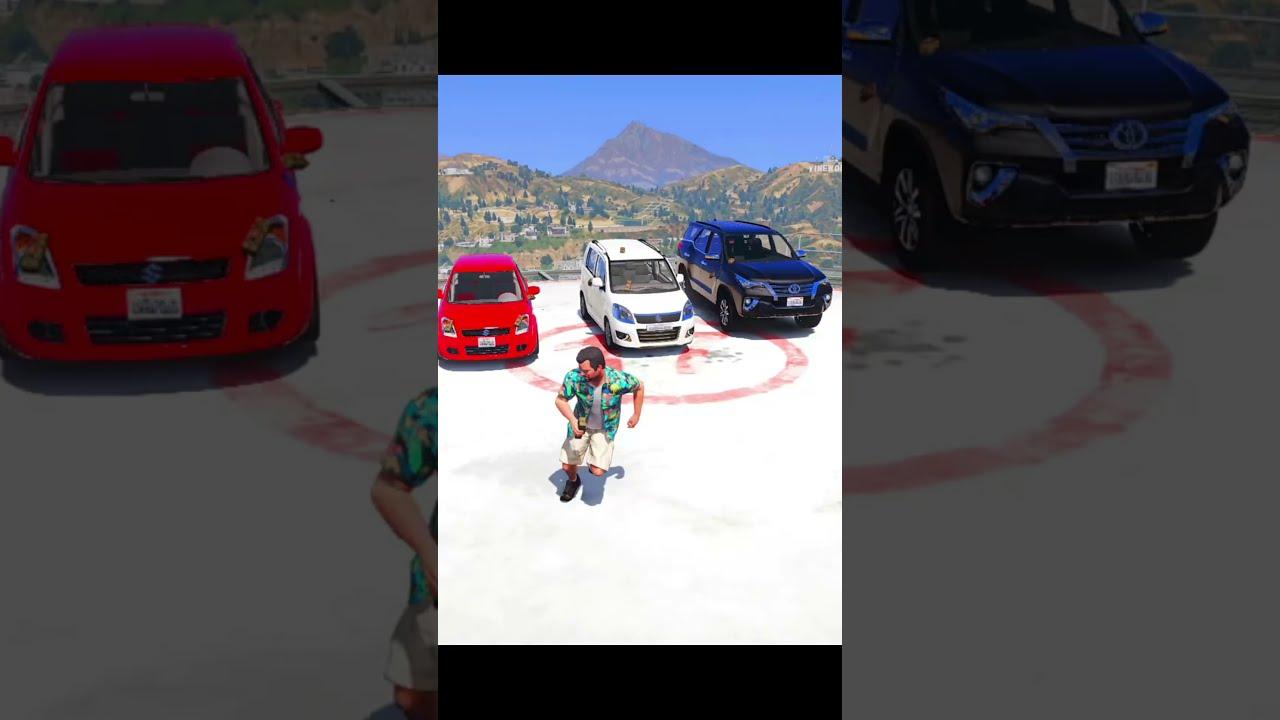 GTA V DESTROYING 3 MOST EXOTIC INDIAN CARS   #Shorts   nuclear vishu