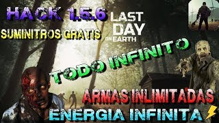 LAST DAY ON EARTH 1.5.6 HACK ENERGIA ILIMITADA ITEMS Y OBJETOS GRATIS INFINIDAD AL CREAR ARMAS, ROPA