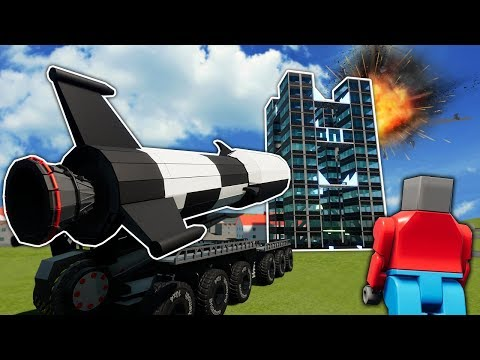 WHEN BOB GETS A HUGE LEGO NUCLEAR MISSILE! - Brick Rigs Creations Gameplay - Lego City Toys
