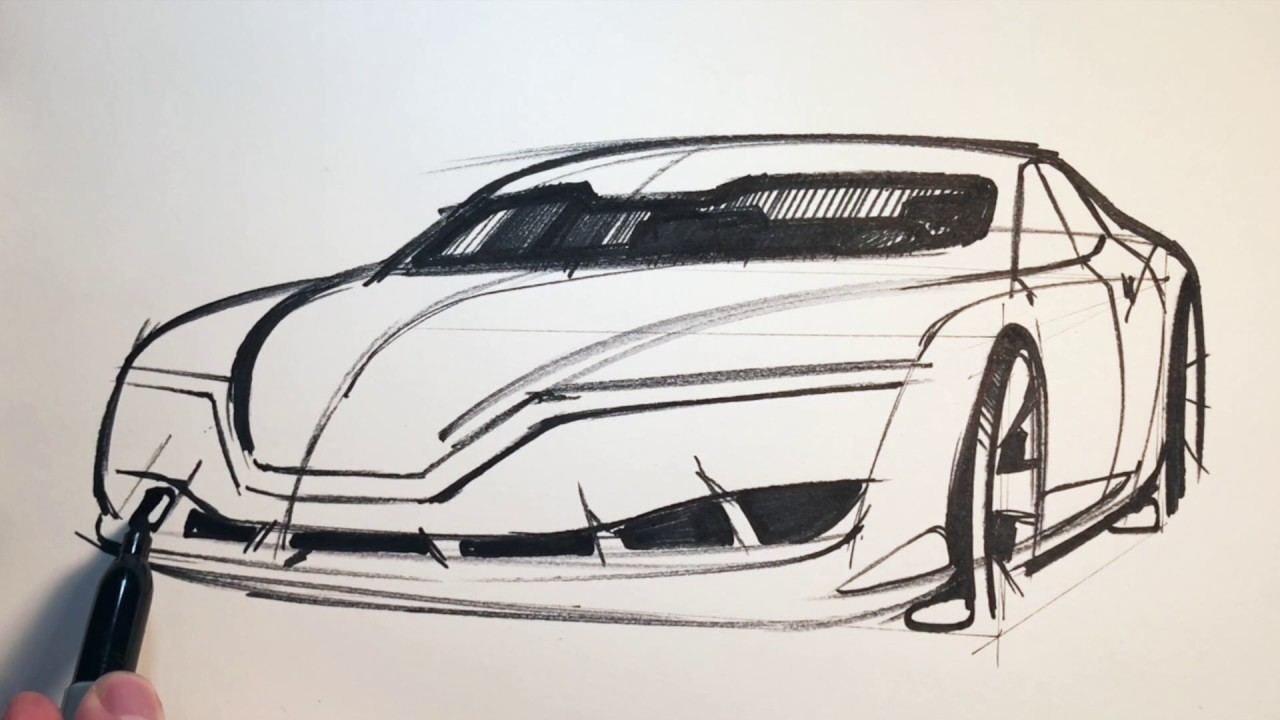C77 sketch drawing a car youtube