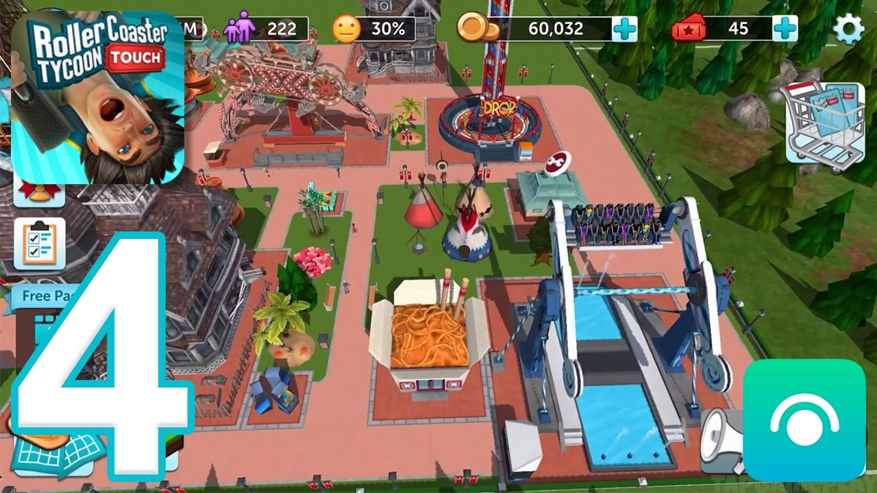 RollerCoaster Tycoon Touch - Gameplay Walkthrough Part 4 - Level 8-12 (iOS)