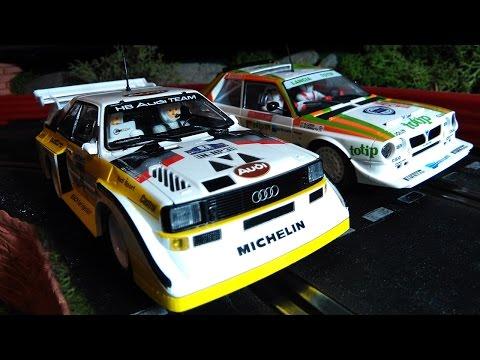 Slot Gear: Lancia Delta S4 (Scalextric) vs Audi Sport Quattro E2 (Superslot)