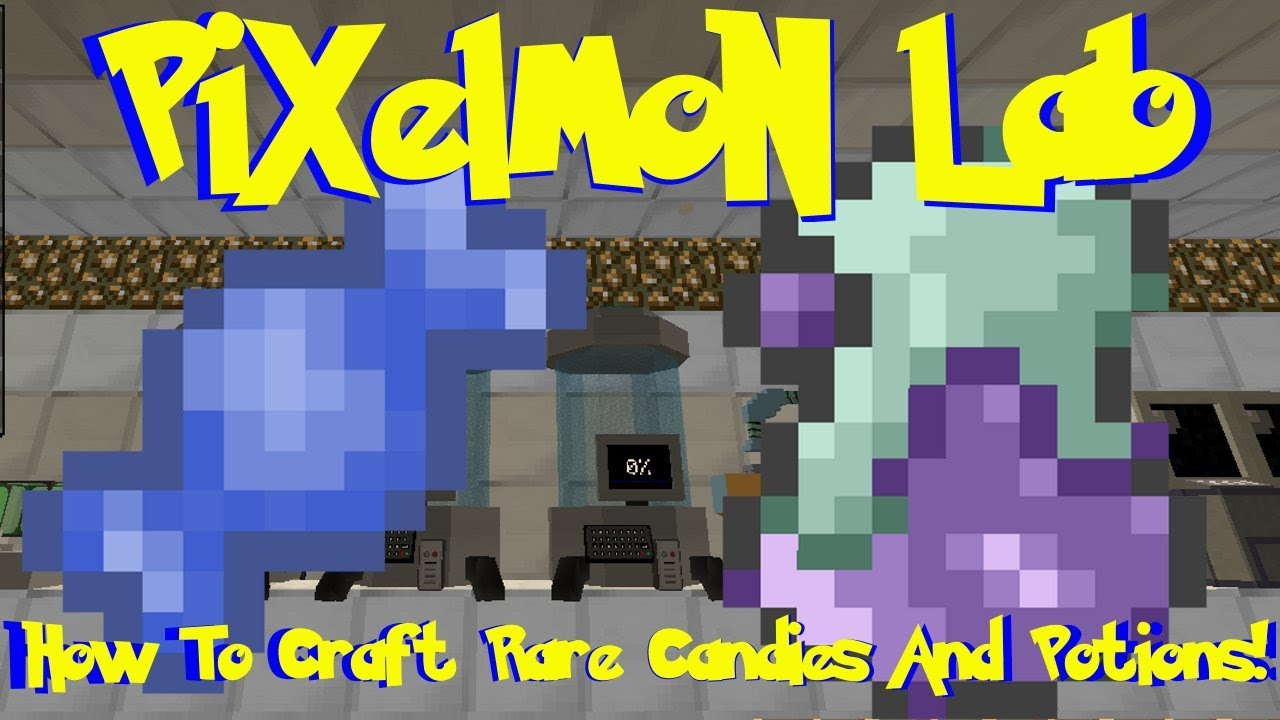 Pixelmon Lab: How To Craft Rare Candies And Potions! (Minecraft Pokemon Mod)
