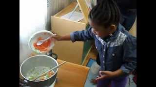Growing Vegetable Soup With My Class!