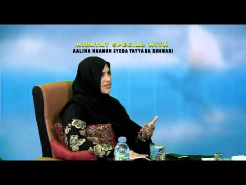 KHANUM TAYYABA SPECIAL P1 110316 HIDAYAT TV