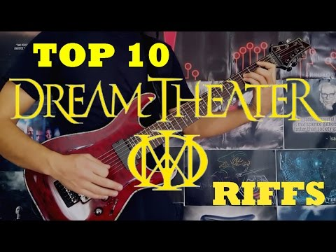 My Top 10 Dream Theater Riffs - Guitar Medley