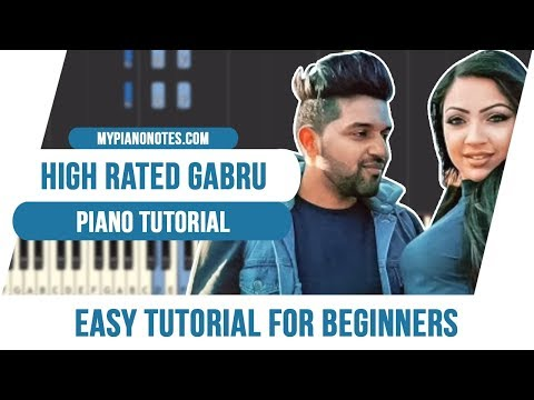 High Rated Gabru Piano Tutorial   Letter Piano Notes & Chords