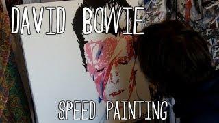 BOWIE Ziggy Stardust SPEED PAINTING, Pop Art - By Stephen Quick