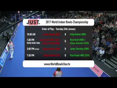 World Indoor Bowls Championship 2017: January 24th Afternoon Session