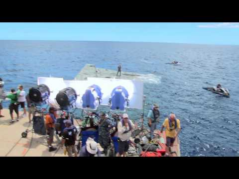 """Battleship - On the Set: """"Transporting the crew at Sea"""""""