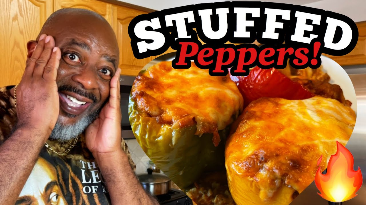 How to make Juicy Stuffed Bell Peppers! (with Chicken) | Deddy's Kitchen