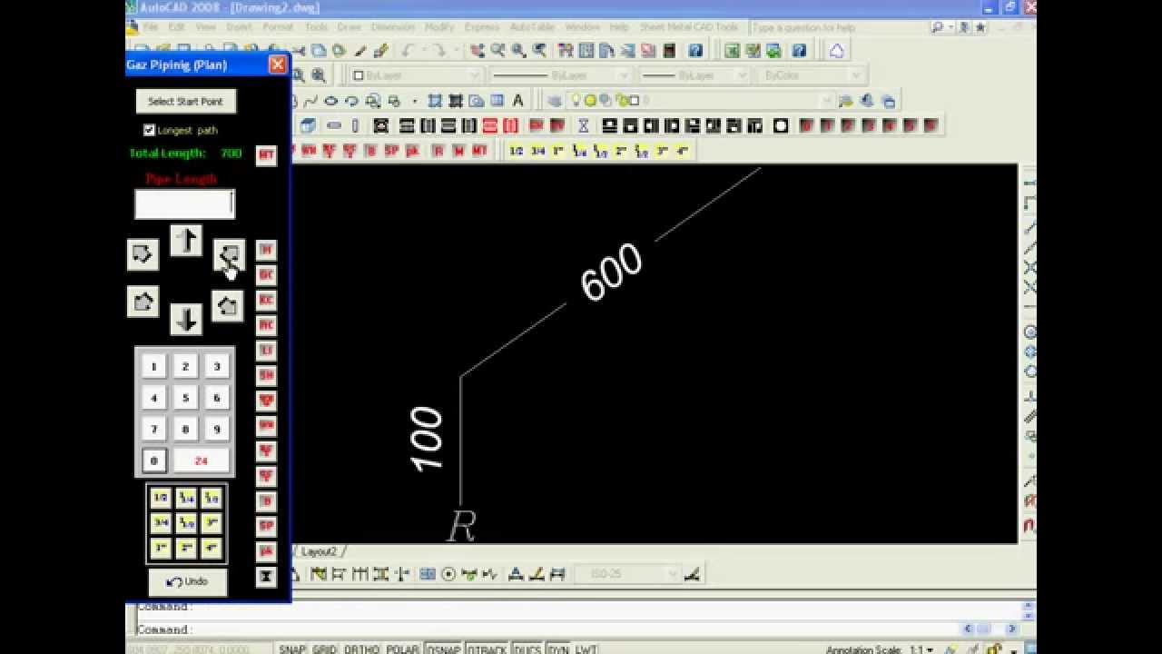 Example Of Automatic Drawing In Autocad By A Vba Program