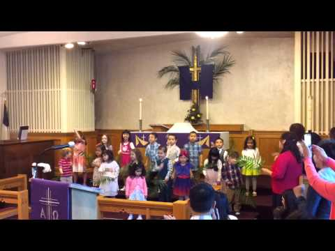 Shepherd Center Preschool Palm Sunday Performance