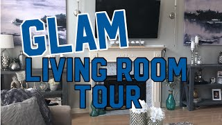 SUMMER GLAM LIVING ROOM TOUR AND REFRESH!!!