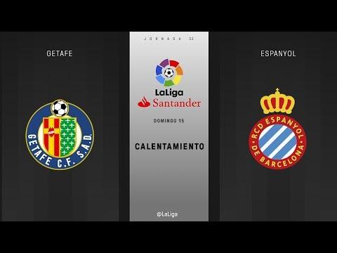 Calentamiento Getafe vs Espanyol