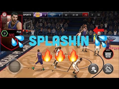BIG MOMENTS PLAYER STOJAKOVIC IS A 3 POINT GOD!! UNBELIEVABLE GAMEPLAY! NBA LIVE MOBILE