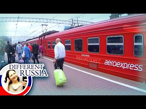To Moscow Airport Domodedovo by Aeroexpress Train. Travel Ti