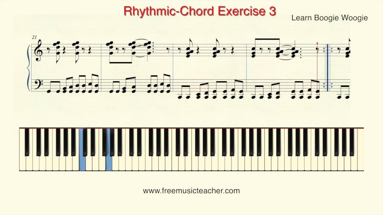 Learn Boogie Woogie Rhythmic Chord Exercise 3 Youtube