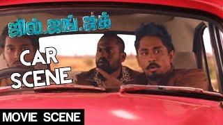 Jil Jung Juk - Car Scene   Siddharth, Avinash Raghudevan, Sananth Reddy   Deeraj Vaidy