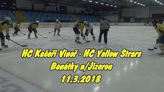 Hokej hrají Kačeři Vinoř & Yellow Stars, 12.3.2018