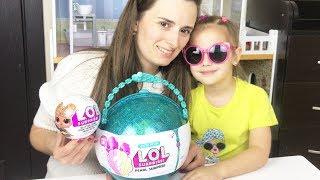 LOL Surprise Pearl БОЛЬШОЙ ШАР ЛОЛ сюрприз Как Мама и Алина играют в куклы ЛОЛ GIANT BALL LOL DOll