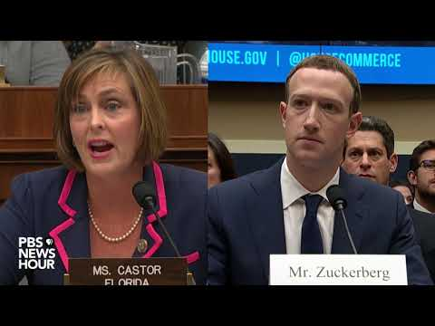 Zuckerberg and Rep. Castor on Facebook tracking, privacy