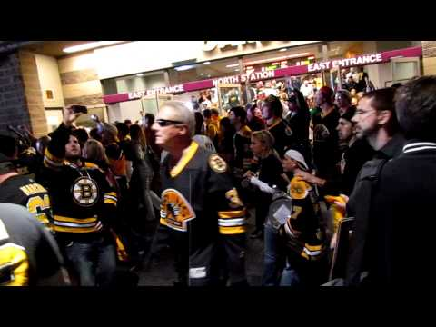 Fans leaving TD Garden: Game 6 of the Stanley Cup Playoffs Bruins and Canucks.