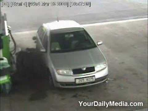 Thumbnail: Man Gets Hit By Wheel Captured on CCTV