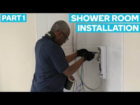 Shower Room Installation [Part 1] - Father & Son Electrician Team In London Vlog #3