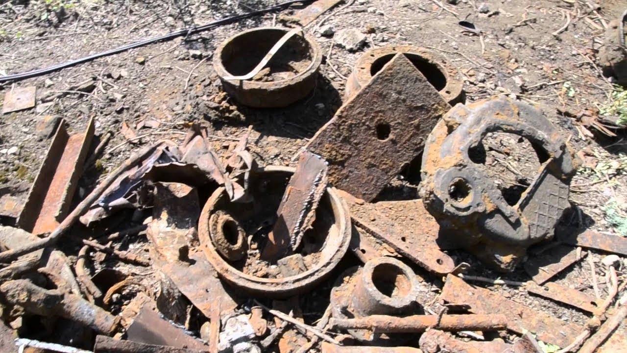 Поиск металла, металлолом, железо, чугун, коп, металлоискатель, обзор.