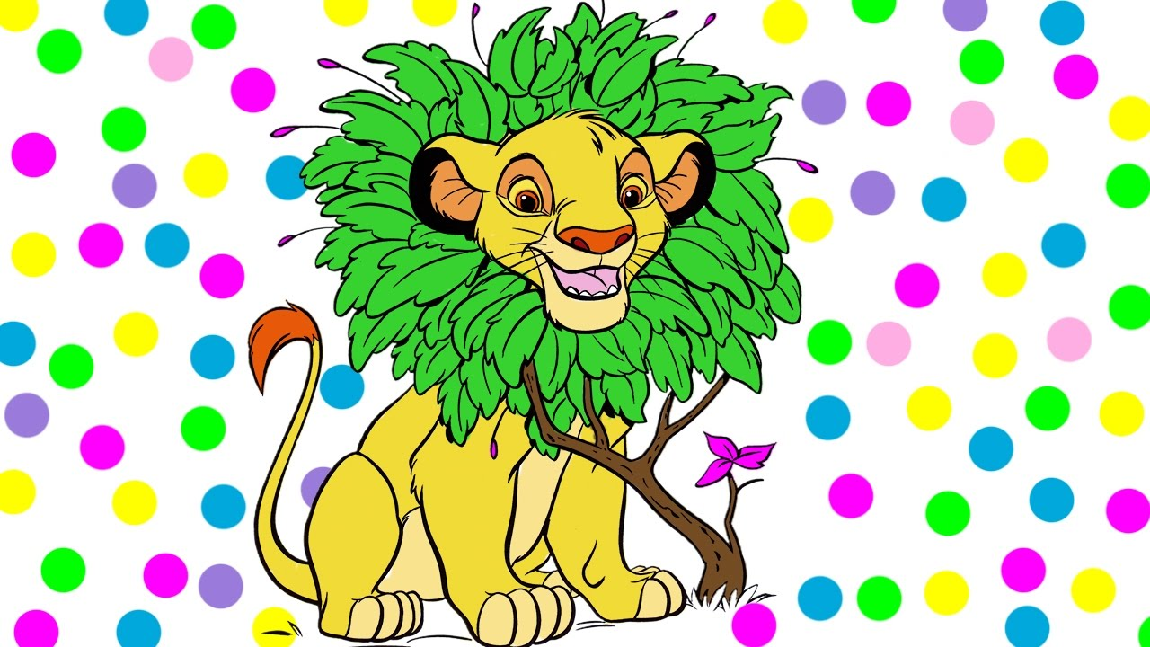 Lion king coloring book - The Lion King Coloring Simba Lion Colouring Book Page For Kids