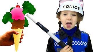 Do You Like Broccoli Ice Cream? Kindergarten food song by Ulya in professions costume