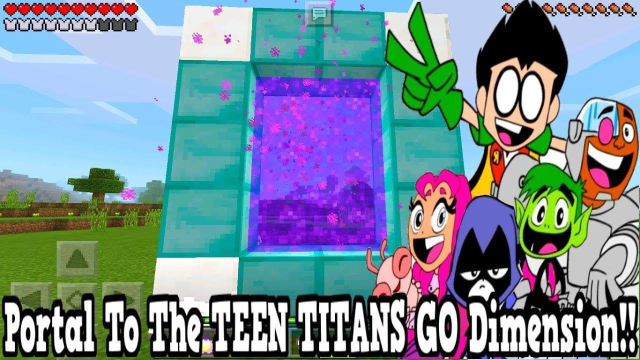 Minecraft Pe - Portal To The Teen Titans Go Dimension - Mcpe Portal To The Teen Titans Go!!!