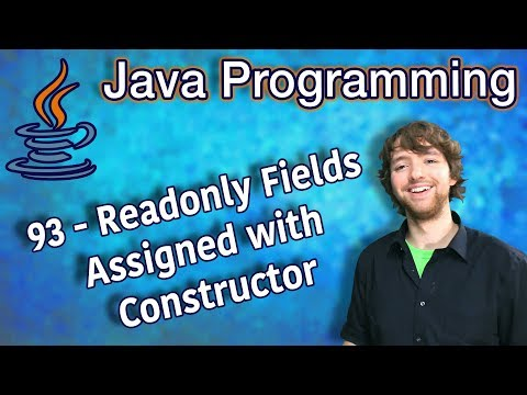 Java Programming Tutorial 93 - Readonly Fields Assigned with Constructor thumbnail