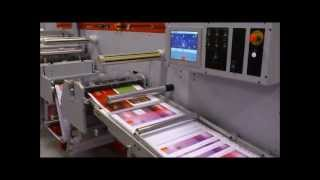 UCE500 Inline sheeter, flexo varnish, lamination and cold foil printing