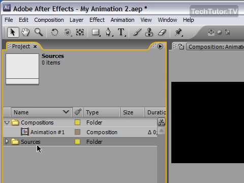 Import Footage in After Effects CS3