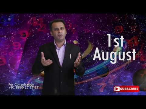 Astrological Prediction for the Person Born on 1st August | Astrology Planets