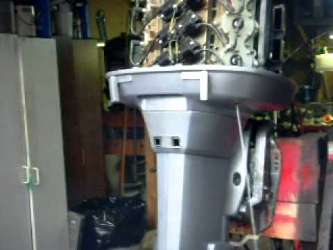 Yamaha 200HP V-6 Outboard Running on Stand - YouTube