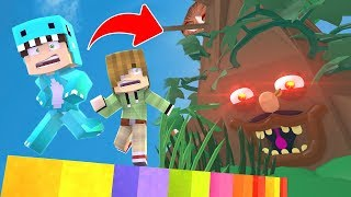 DRINK MILO ESCAPA DEL PARKOUR ARBOL GIGANTE *we fall* 😱 MINECRAFT ROLEPLAY + ROBLOX