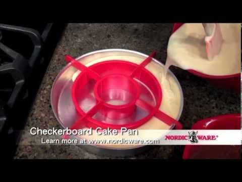Nordicware Checkerboard Cake Pan Set Youtube