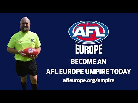 Become an AFL Europe Umpire